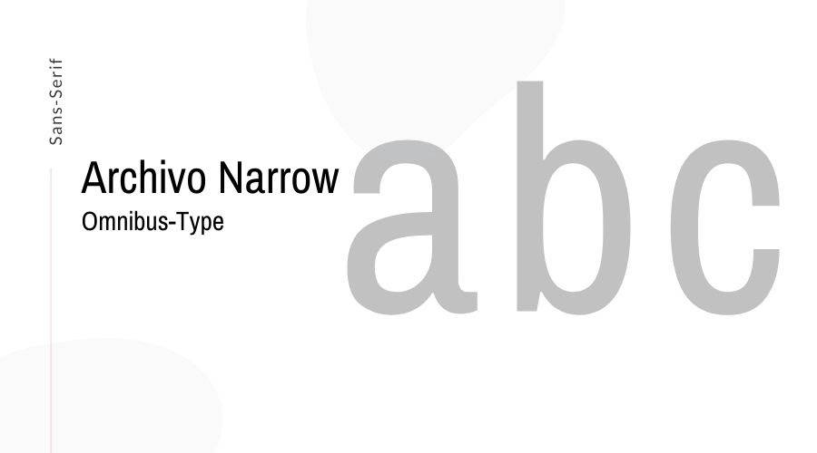 Archivo Narrow Font Free Download