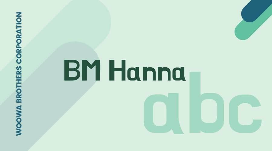 BM Hanna Font Free Downoad