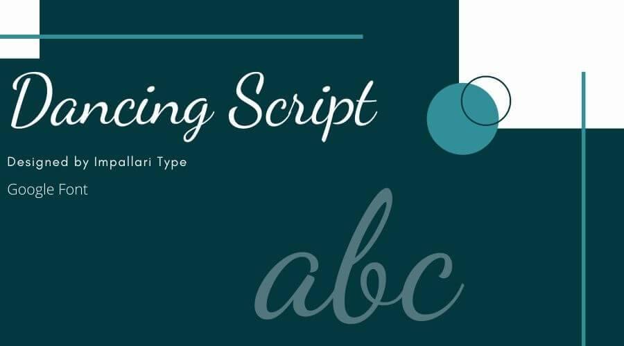 Dancing Script Font Free Download