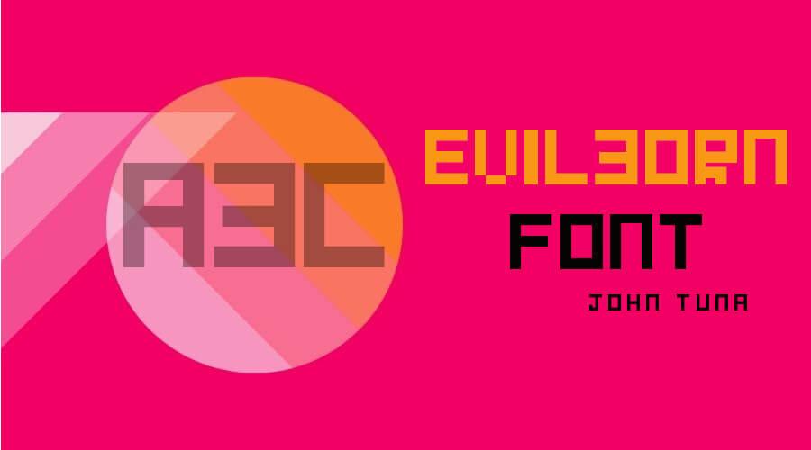 Evilborn Font Free Download