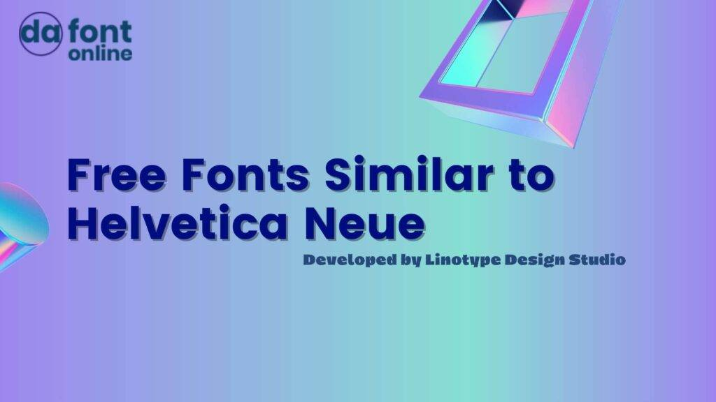Free Fonts Similar to Helvetica Neue