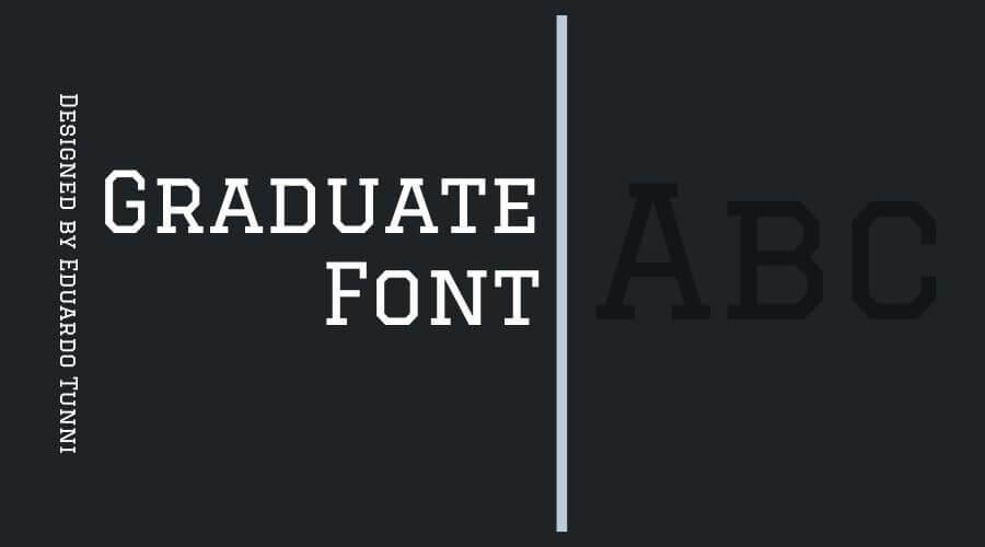 Graduate Font Free Download
