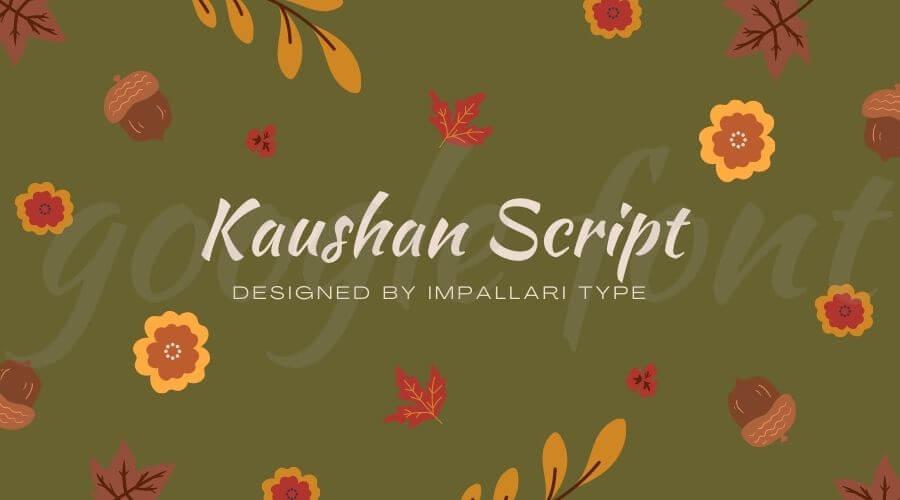 Kaushan Script Font Free Download