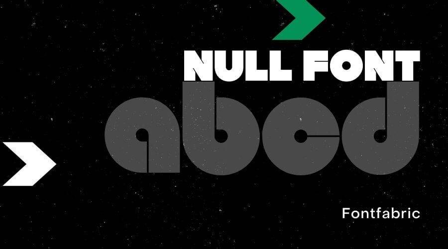 Null Font Free Download