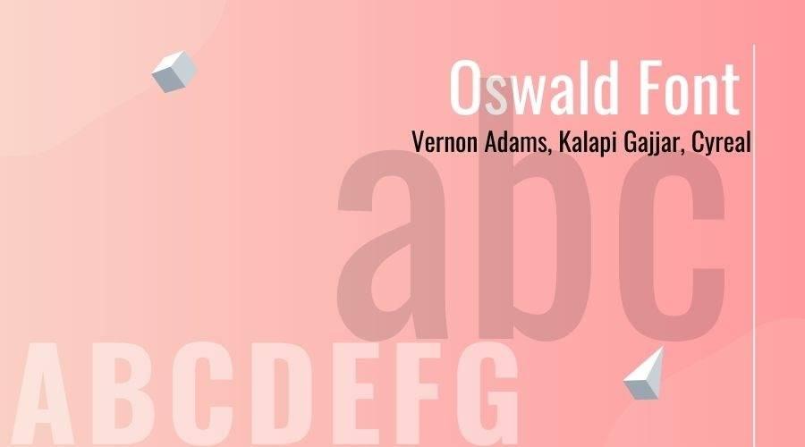 Oswald Font Free Download