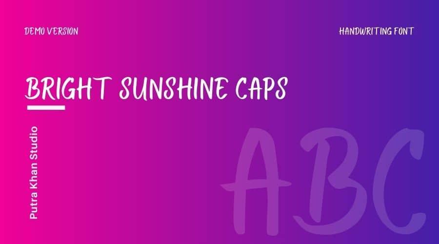 Bright Sunshine Font Free Download