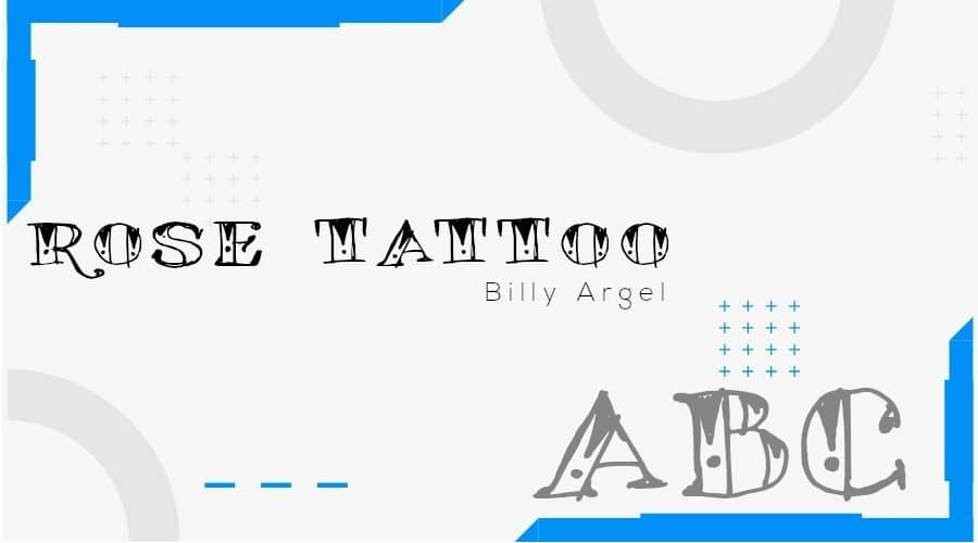 Rose Tattoo Font Free Download