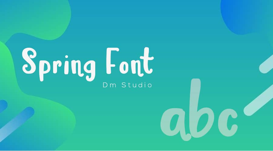 Spring Font Free Download