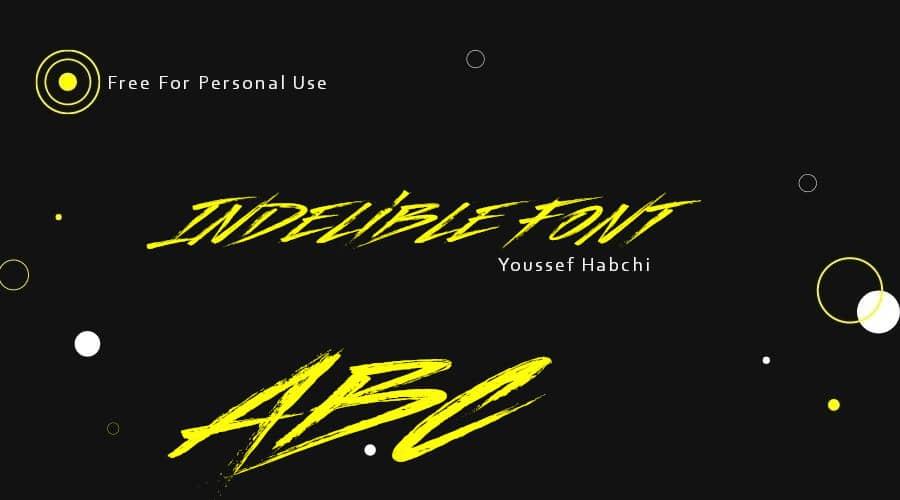Indelible Font Free Download