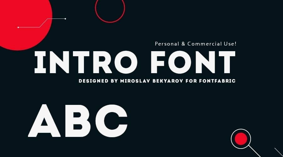 Intro Font Free Download