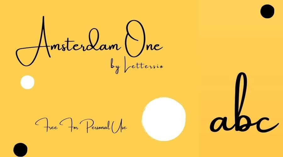 Amsterdam One Font Free Download