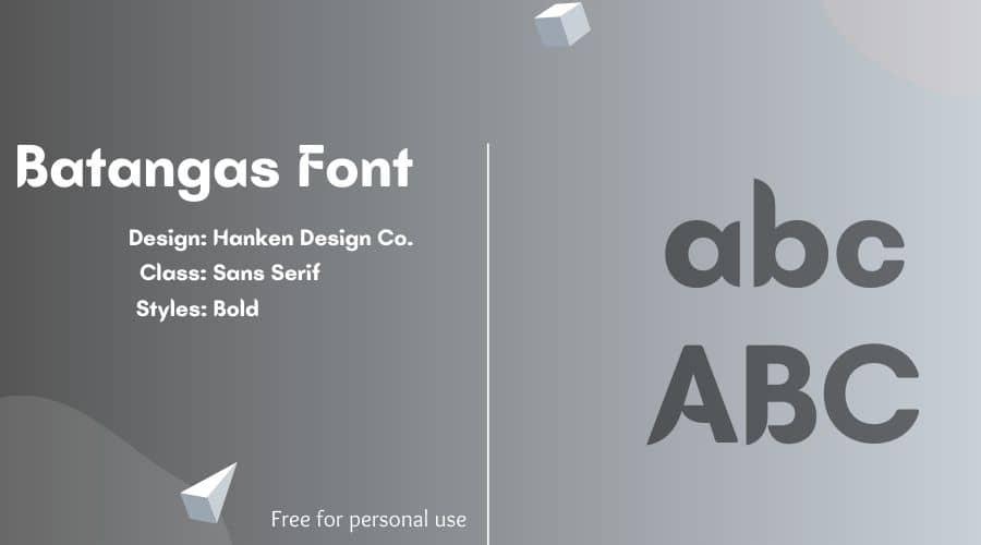 Batangas Font Free Download