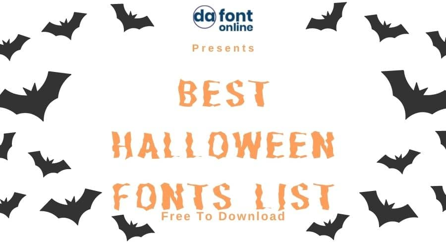 Best Halloween Font List