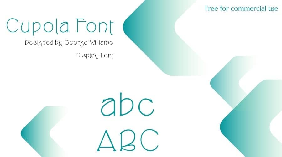 Cupola Font Free Download