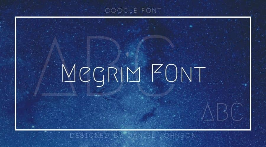 Megrim Font Free Download