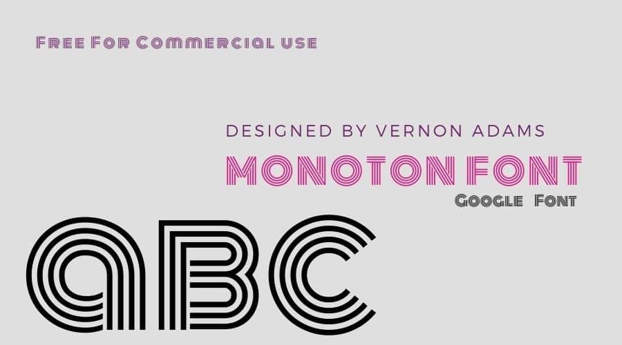 Monoton Font Free Download