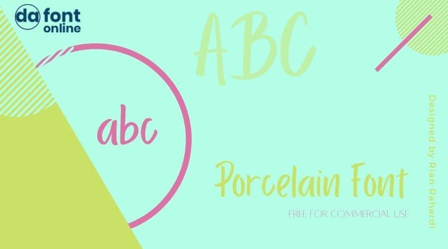 Porcelain Font Free Download
